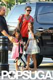 Katie Holmes and daughter Suri Cruise went out for the day.