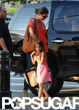 Katie Holmes and Suri Cruise left the car in NYC.