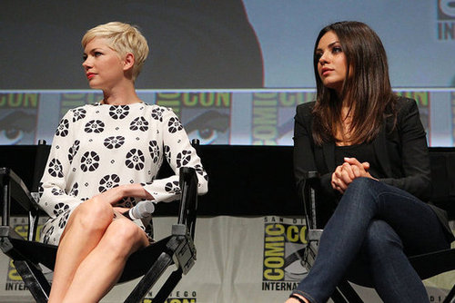 Michelle Williams and Mila Kunis promoted Oz: The Great and Powerful at Comic-Con.