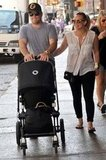 Mike Comrie and Hilary Duff walked in NYC with Luca.