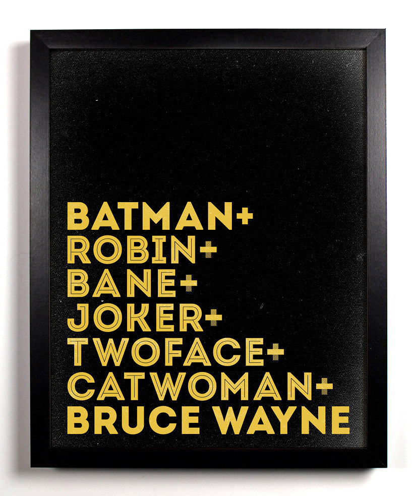 Batman Typography Print ($10)