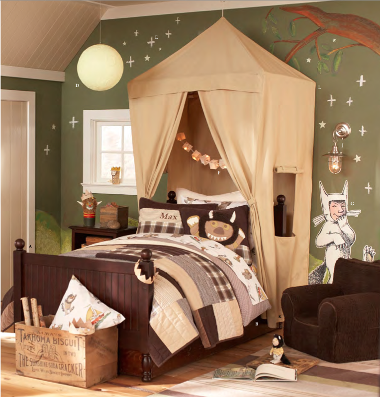 Girls have been the lucky ones in recent years, with fun castle canopies hanging over their beds to add some dimension to their rooms. The new Safari Canopy ($200) is a welcome addition to the store and one that we can see many kids asking for this year!