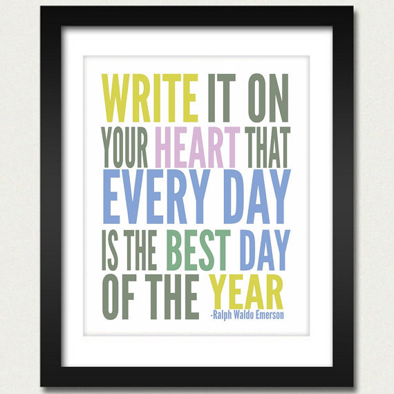 All the colors come together for word-art perfection in this Write It on Your Heart ($10) print.