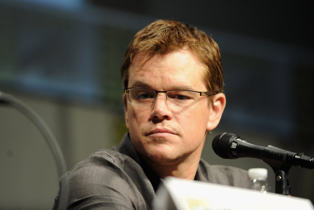 Matt Damon spoke during Sony's Elysium panel during Comic-Con at San Diego.