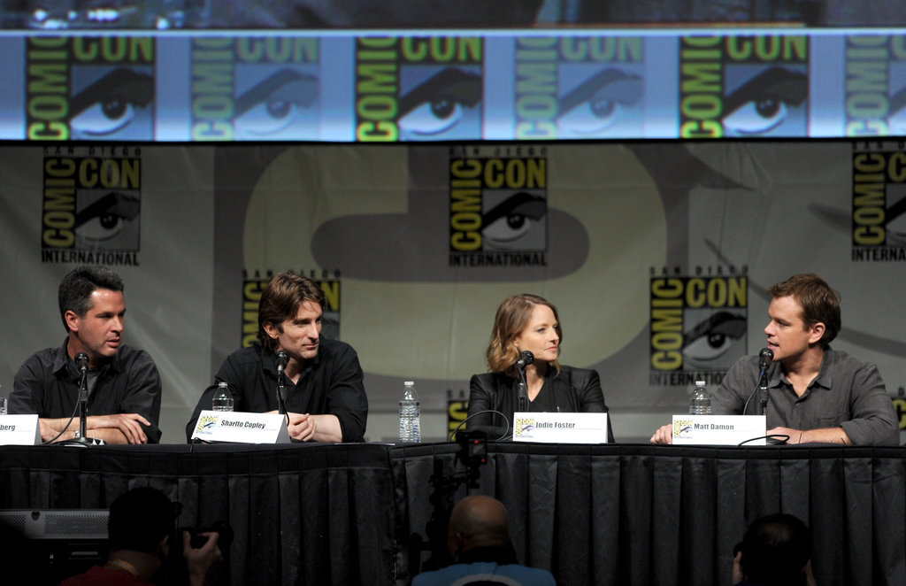 Sharlto Copley, director Neill Blomkamp, Matt Damon, and Jodie Foster talked about Elysium.