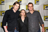 Sharlto Copley, Jodie Foster, and Matt Damon at Sony Pictures Panels during Comic-Con.