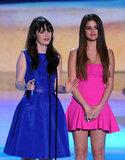 Zoe Deschanel and Selena Gomez