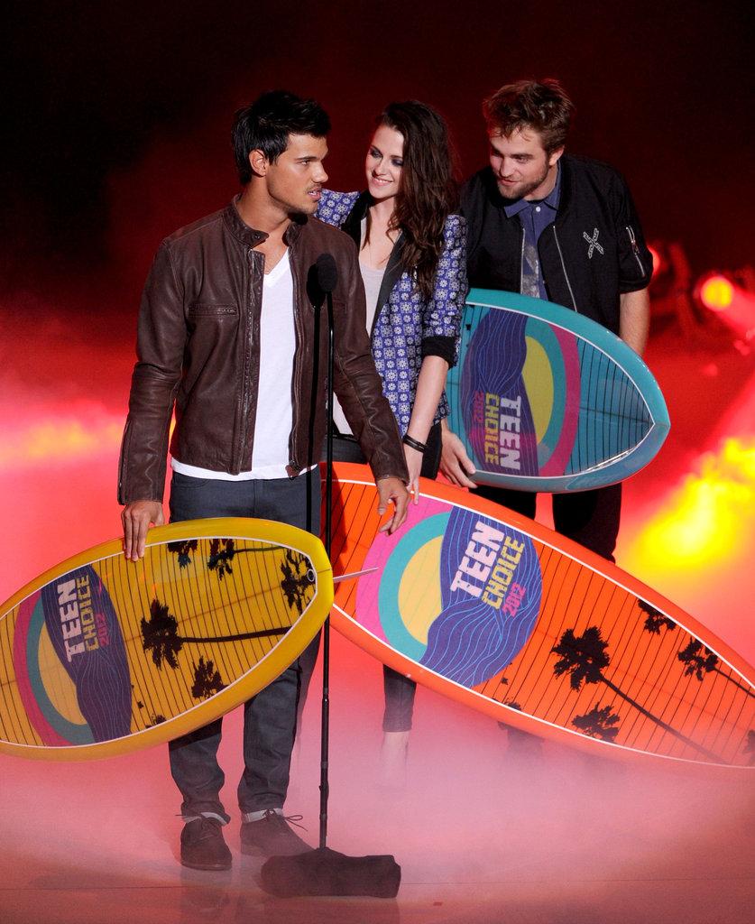 Taylor Lautner, Kristen Stewart, and Robert Pattinson