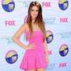 Selena Gomez in Pink Dsquared2 Dress at 2012 Teen Choice Awards