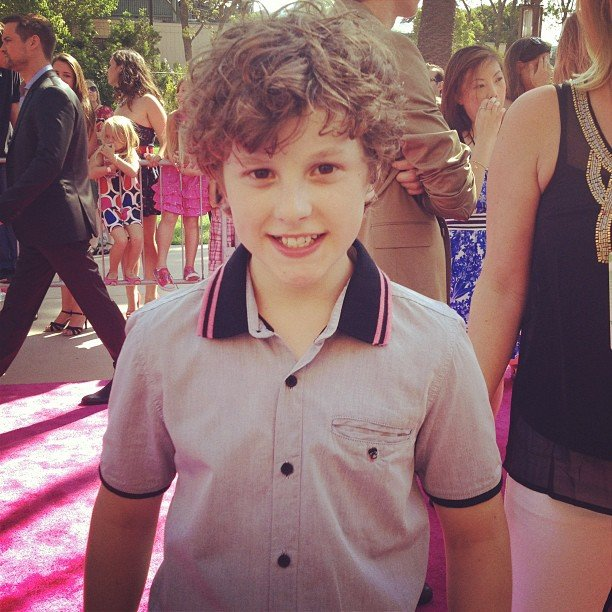 PopSugar editor Michelle Manning caught up with Modern Family's Nolan Gould on the Teen Choice Awards red carpet. Source: Instagram user popsugar