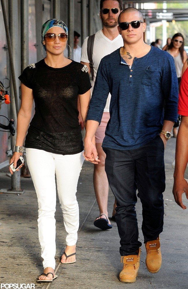 Jennifer Lopez and Casper Smart lunched at Pastis.