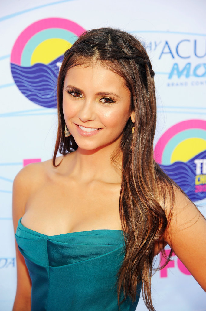 Nina Dobrev gave a smile at the Teen Choice Awards.