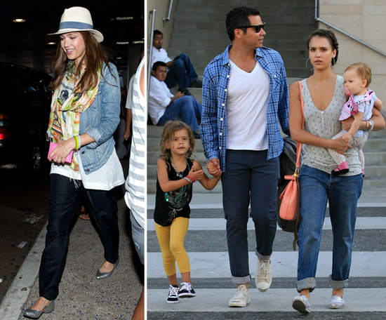 Jessica Alba Returns From Shanghai With a Warm Welcome From Family