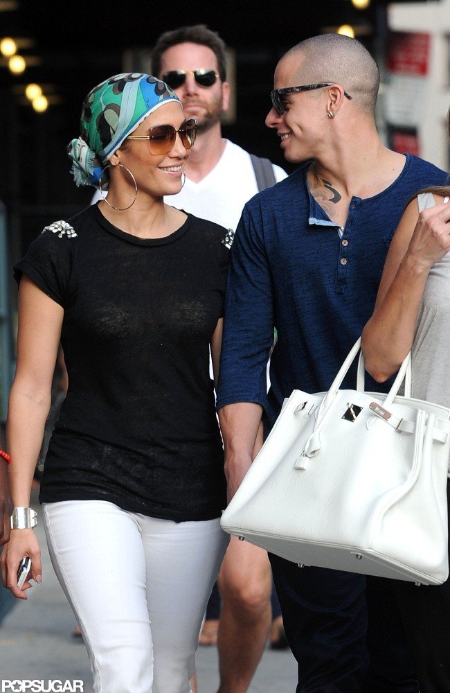Jennifer Lopez and Casper Smart toured Soho in NYC.