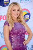 Hayden Panettiere shined in a metallic Zuhair Murad dress.