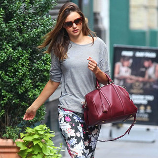 Miranda Kerr Wearing Floral Pants
