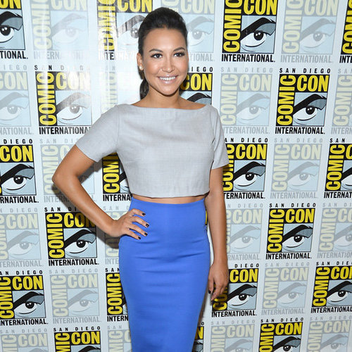Naya Rivera Wearing Neon-Yellow Pumps
