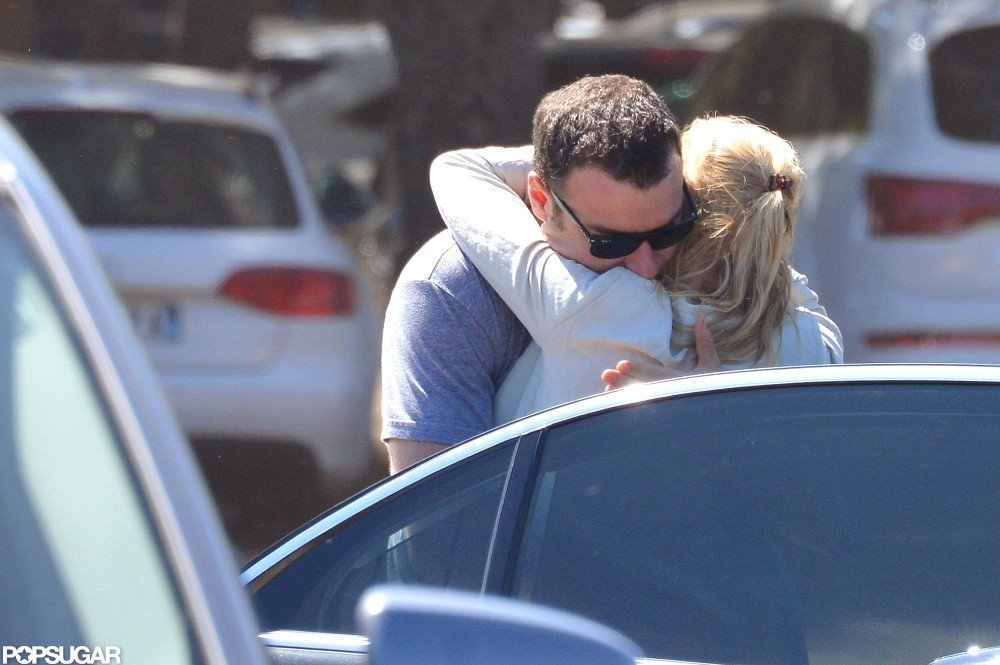 Liev Schreiber pulled Naomi Watts in for a hug.