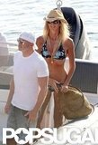 Elle Macpherson Has Bikini Time During an Ibiza Yacht Vacation