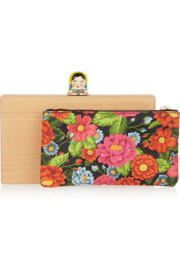 """This clutch is like nothing I've ever seen before — it's out-of-this-world kitsch and completely adorable. Charlotte Olympia's innovative and supercool designs take my breath away. Every time."" — Poppy Delevingne Charlotte Olympia Pandora Matryoshka Clutch ($995)"