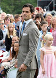 Prince Carl Philip struck a pose.