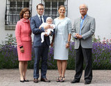The growing Swedish royal family posed on the crown princess's birthday.