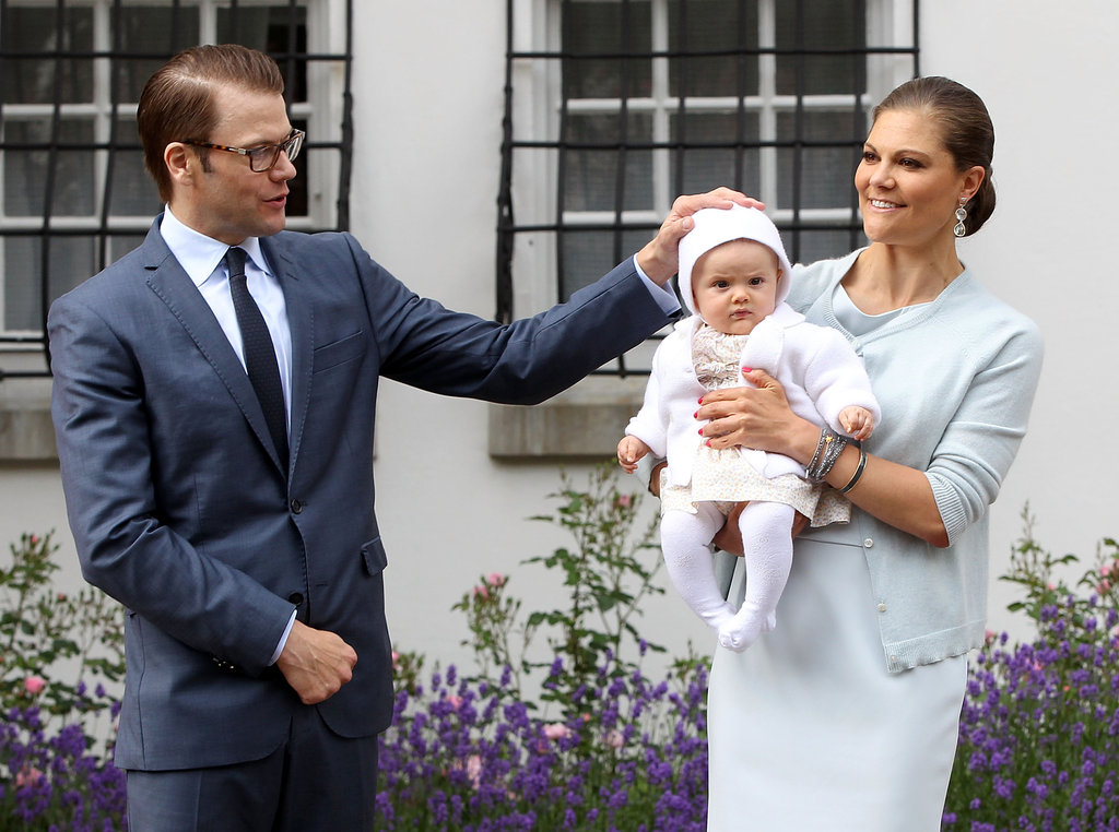 Prince Daniel keeps an eye on his daughter, Princess Estelle.