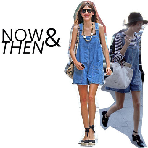 Alexa Chungs Wears Her Denim Overalls Twice: See How She Styles Them in Winter and Summer