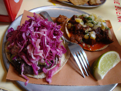 Black Bean &amp; Cheese &amp; Cochinita Pibil (pork) Tacos
