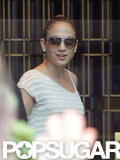 Jennifer Lopez wore sunglasses.