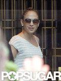 Jennifer Lopez wore sunglasses.