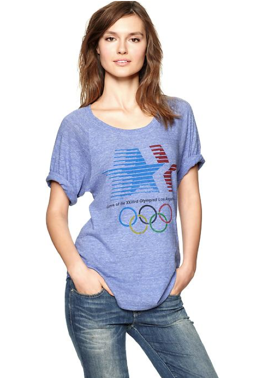 Just in time for the olympic games in london wear your for Gap usa t shirt