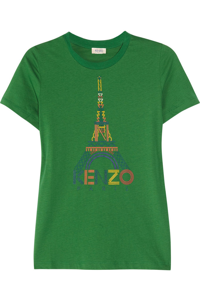 """The multicolored print paired with the iconic Eiffel Tower makes this supersoft tee feel more """"I got this on a trip to Paris when I was a kid"""" than """"just picked it up yesterday."""" Kenzo Printed Cotton T-Shirt ($105)"""