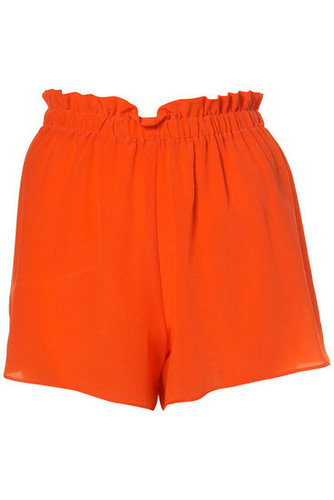Make getting dressed a cinch with bold-hued shorts that feel as good as they look.  Topshop Silk Pull-On Shorts by Boutique ($80)