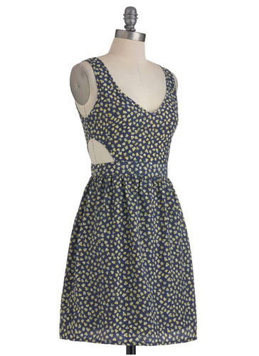 The sweet print on this adorable day dress keeps the side cutouts from feeling too sultry, so you can wear this one without feeling overexposed.  Modcloth Cutout of the Ordinary Dress ($50)