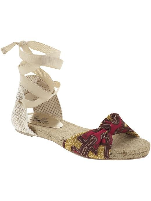 Inject a great print and cool wraparound detailing without surrendering your comfort to a pair of heels.  Belle by Sigerson Morrison Maya 2 ($80, originally $175)