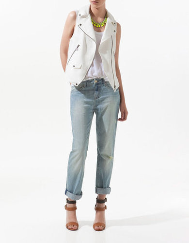 Get a moto-chic style spin without a stifling leather jacket. This linen vest offers the same cool in a warm-weather-accessible way.  Zara Linen Waistcoat With Zips ($80)