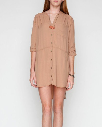 Breeze into the hot day ahead in a loose-fitted shirtdress that can go just about anywhere.  Goodall Shirt Dress ($65)