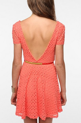 A low back doubles as a sexy detail and a hot-weather secret weapon.  Staring at Stars Crochet Circle Dress ($59)