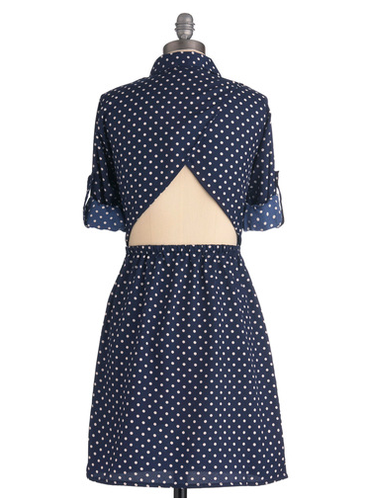 This pulled-together shirtdress has a secret cooling device: an open back.  North Star Navigator Dress ($55)