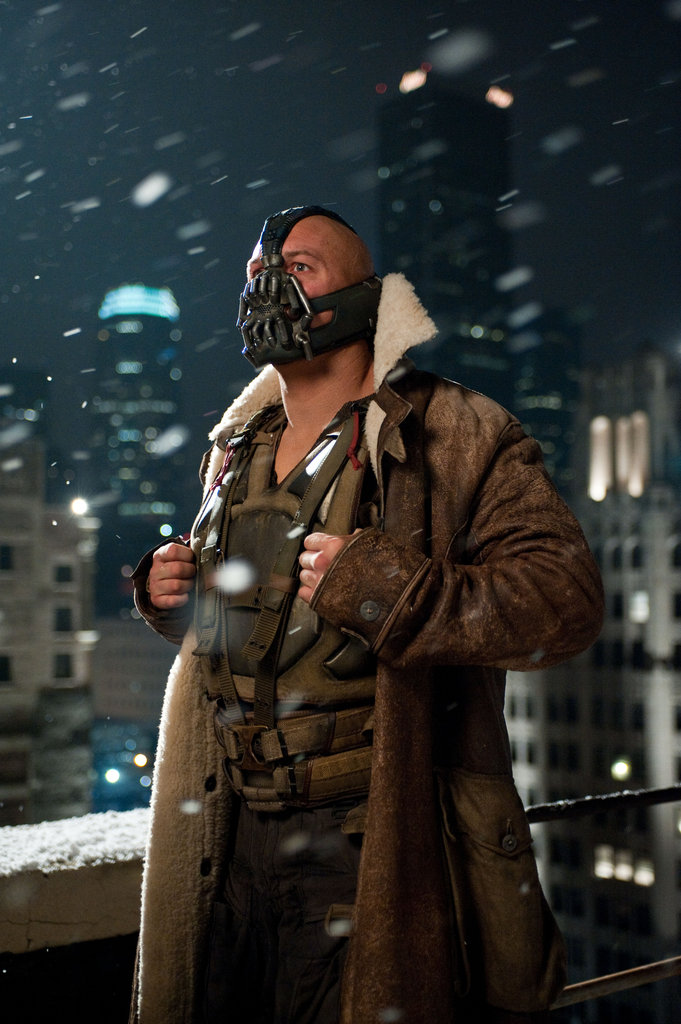 Tom Hardy in The Dark Knight Rises.  Photo courtesy of Warner Bros.
