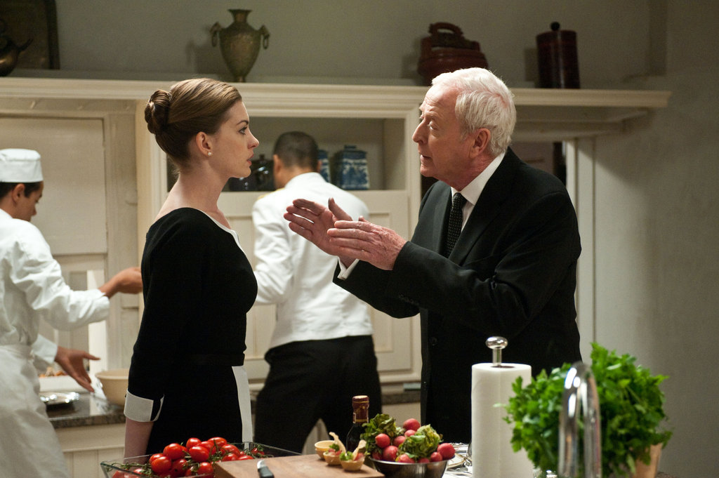 Anne Hathaway and Michael Caine in The Dark Knight Rises.  Photo courtesy of Warner Bros.