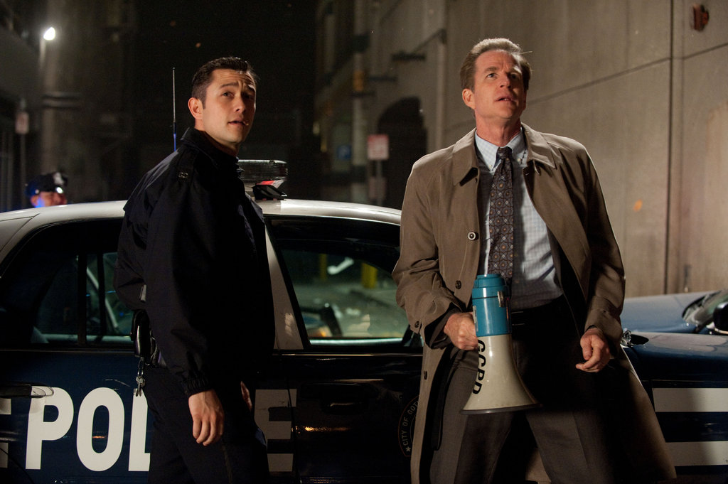 Joseph Gordon-Levitt and Matthew Modine in The Dark Knight Rises.  Photo courtesy of Warner Bros.