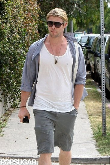 Chris Hemsworth strolled in Santa Monica.