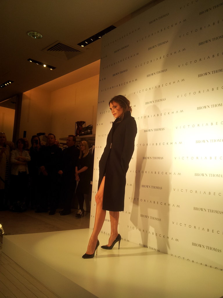 Victoria Beckham showed some leg. Source: Twitter user BrownThomas