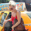 Kate Hudson Wearing a Red Dress in NYC