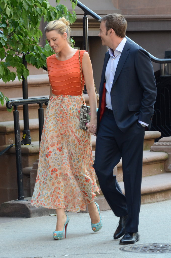 Blake Lively and Barry Watson filmed a scene together in NYC.