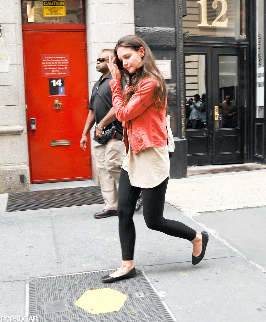 Katie Holmes headed home.