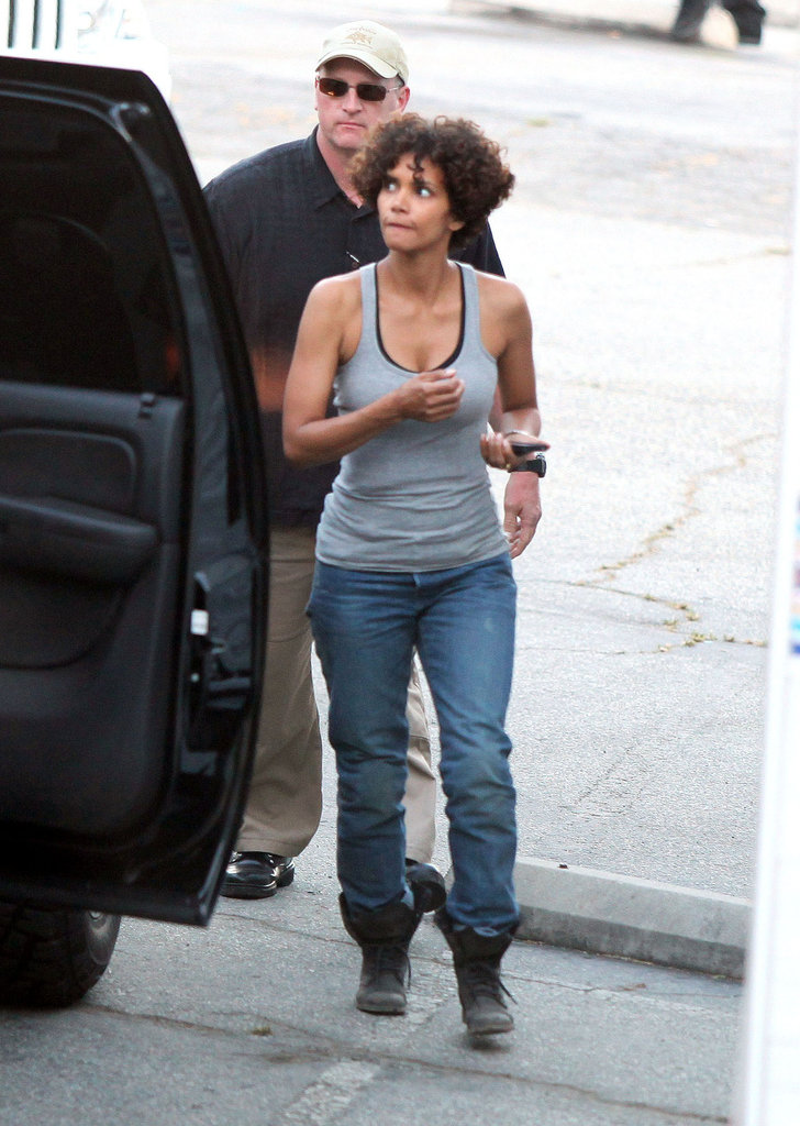 Halle Berry injured on the set of The Hive.