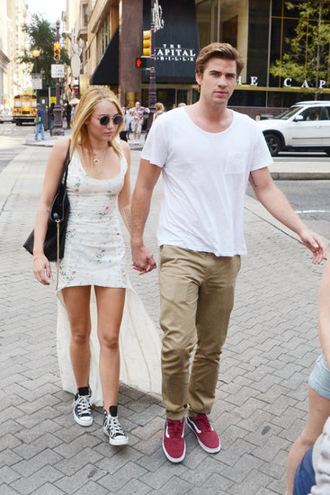 In July 2012, Miley Cyrus visited Liam Hemsworth in Philadelphia where he was filming for  Paranoia.